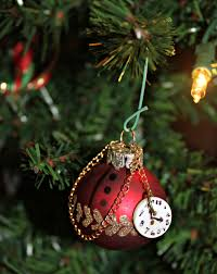 santa u0027s pocket watch christmas tree ornament trees christmas