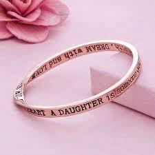 rose gold bangle bracelet images Daughter message bangle rose gold plated by lauryn james jpg