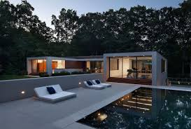 modern two story u shaped house