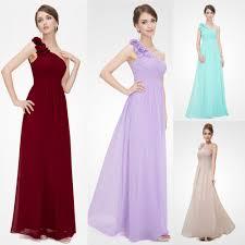 us long women u0027s bridesmaid dresses chiffon one shoulder homecoming