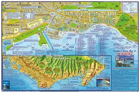 map of waikiki franko s oahu guide map