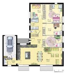 plan maison en l 4 chambres plan maison 4 chambres avec garage immobilier pour tous