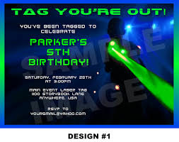 Printable Birthday Party Invitation Cards Laser Tag Invitation Laser Tag Invite Party Printable