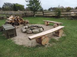 Firepit Bench Our Home Made Pit Benches From Cedar Ripped With A Chainsaw