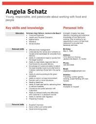 Interest For Resume Examples by High Resume Examples Resume For A Highschool Student