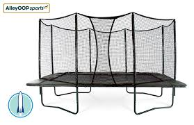 Safest Trampoline For Backyard by Powerbounce 10x17 Ft Rectangular Trampoline With Enclosure
