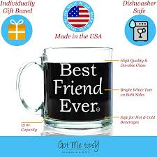 amazon com best friend ever glass coffee mug 13 oz unique