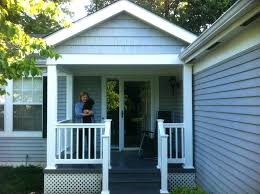 Front Porch Post Wraps by Front Porch With Vinyl Rails And Decking Posts Home Depot Columns