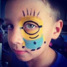 despicable me minion face painting borman pta pinterest