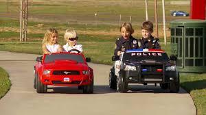 toddler mustang car power wheels race charger vs mustang