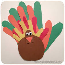 thanksgiving handprints the chirping