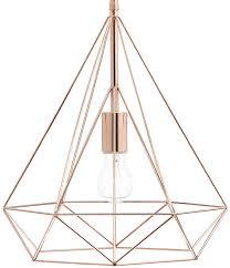 sword contemporary wire prism 1 light pendant copper dar swo0164
