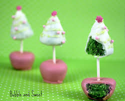 bubble and sweet christmas tree cake pop yup double sided cake pops