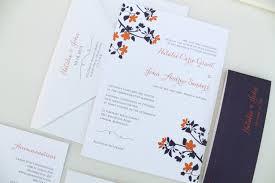 purple and orange wedding ideas wedding invitation fall wedding invitation suite purple and