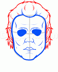 Michael Myers Mask How To Draw Michael Myers Easy Step By Step Characters Pop
