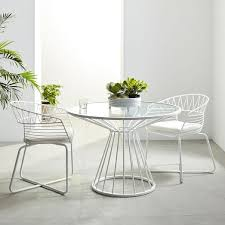 Metal Outdoor Dining Chairs Soleil Metal Outdoor Dining Set Table 4 Chairs West Elm