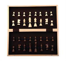 amazon com kangaroo u0027s folding wooden chess set with magnet