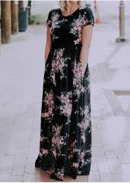 floral pocket maxi dress without necklace bellelily