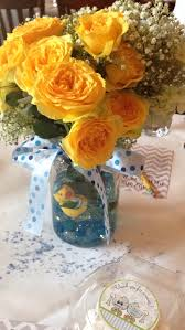 Rubber Ducky Baby Shower Centerpieces by Boy Baby Shower Centerpiece Mason Jar Filled With Hydrangeas
