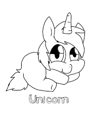 cute baby unicorn colouring colouring club