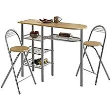Breakfast Bar Table Modern Dining Room Table And 2 Chairs Set Breakfast Bar Tables