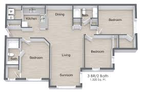 floor plans 3 bedroom 2 bath 3 bed 2 bath apartment in mableton ga the parkton