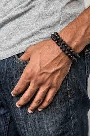 man bracelet stone images Mens lava stone dragons eye bracelet prais stone jpg