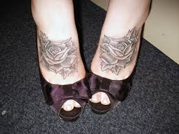 rose tattoo feet by strappingyoungfran on deviantart