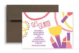 make up theme printable birthday invitation 7x5 in horizontal