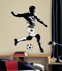 roommates rmk1326gm soccer player peel u0026 stick giant wall decal