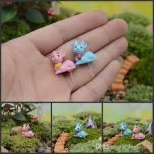 dish garden decor mini sika deer figurines diy succulents