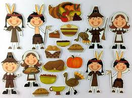 Indian Thanksgiving Pilgrims And Indians Thanksgiving Dinner Felt Bymaree
