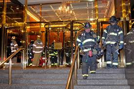 Trump Tower Inside Fire Erupts Inside Trump International Hotel New York Post
