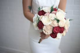bridal bouquet marsala bridal bouquet eco flower