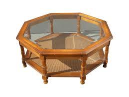 espresso beveled glass coffee table coffee table mid century octagon beveled glass top coffee table