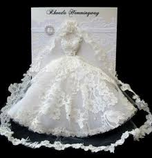 bridal cards custom order handmade bridal wedding dress card 2262042 weddbook