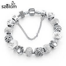handmade silver charm bracelet images Szelam silver handmade charm bracelets for women 2017 murano glass jpg