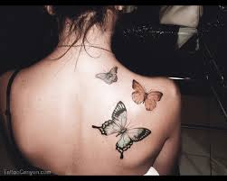 butterfly small back tattoos for az designs az