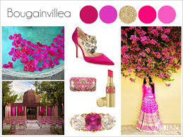 bougainvillea pink indian wedding palette more here http www