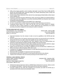 Army Resume Example by Military Service Translation