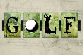 golf wall art sign golf sign sports decor gift for him gift