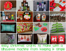 keeping it simple christmas crafts to make with a silhouette