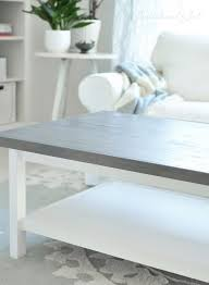 lack coffee table hack weathered gray wood top hemnes coffee table ikea hack this is