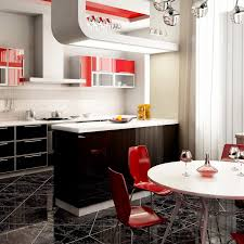 Red Kitchen Cabinets Kitchen Stunning Red And White Kitchen Furnishing Themes In