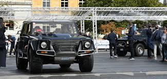 lamborghini jeep lm002 lamborghini concours a tribute to le corbusier the classic car