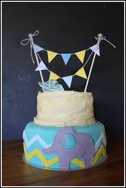 rustic baby boy shower cake with elephant detail u2013 bespoke