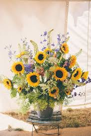 Sunflower Wedding Centerpieces by 40 Rustic Country Buckets Tubs Wedding Ideas Big Bucket