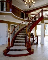 Modern Banister Rails Curved Wooden Banister Rail And Handle Rail For Traditional