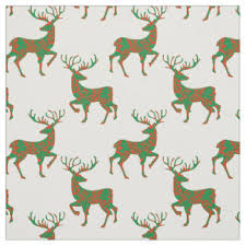 reindeer fabric zazzle