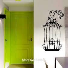 bird cage wall art promotion shop for promotional hot birds cage wall art sticker decal home diy decoration decor mural removable room stickers xcm